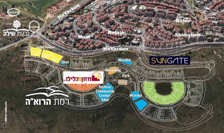 Mishkafayim Street Map Updated