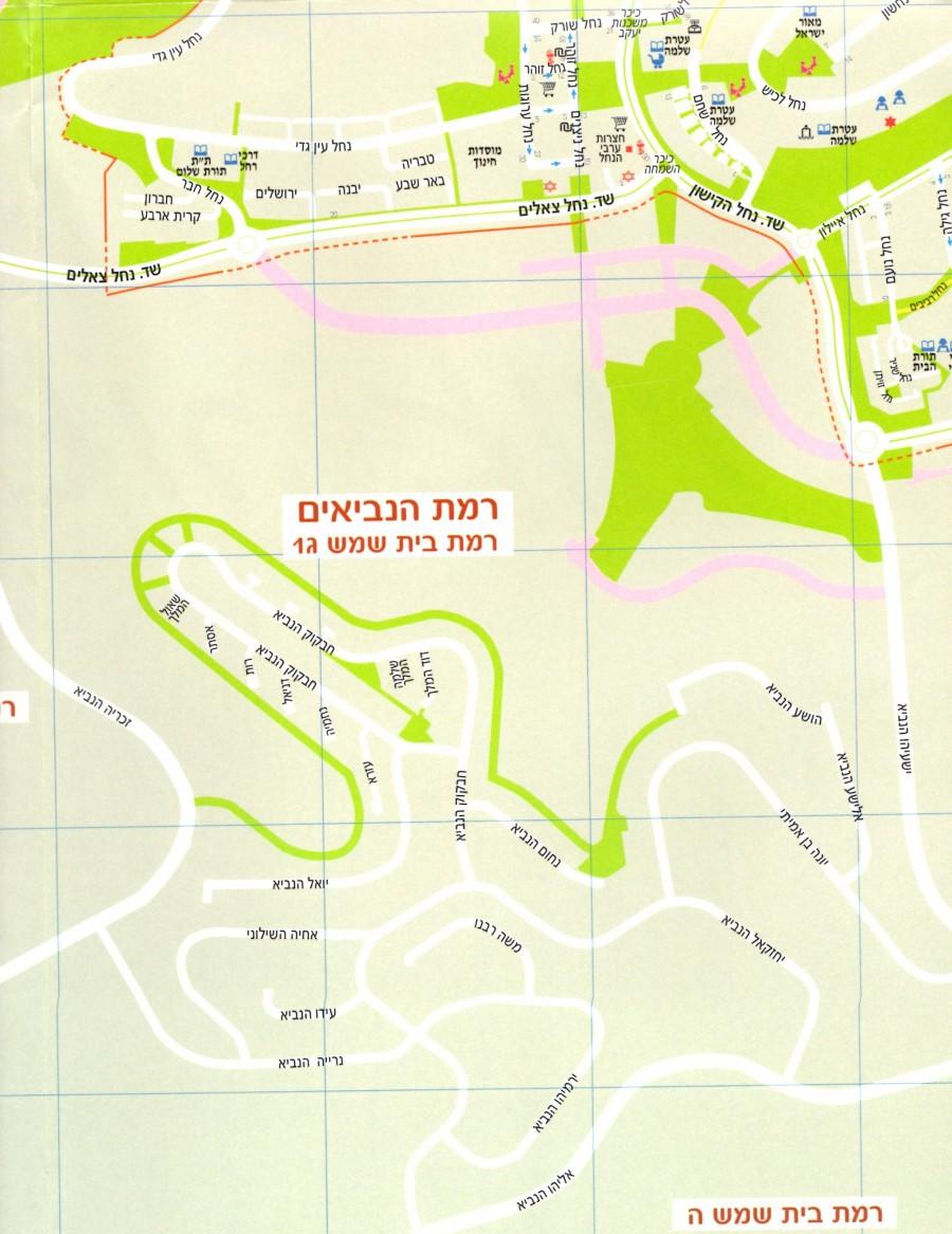 Street Map Of Ramat Beit Shemesh Gimmel Ramat Beit Shemesh